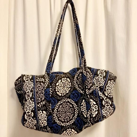 Vera Bradley Handbags - Vera Bradley Large Duffel Canterberry Cobalt